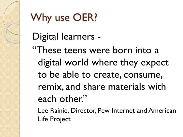 Why use OER?