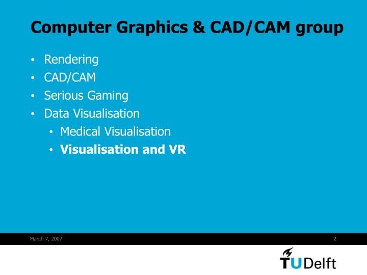 Computer Graphics & CAD/CAM group