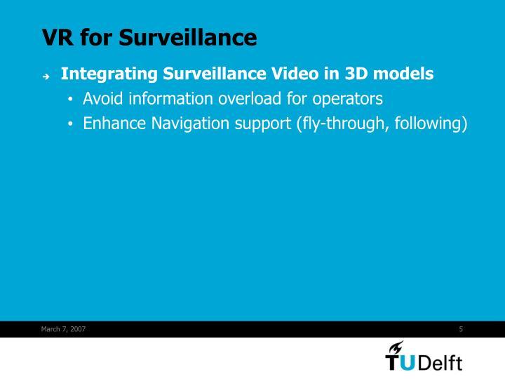 VR for Surveillance