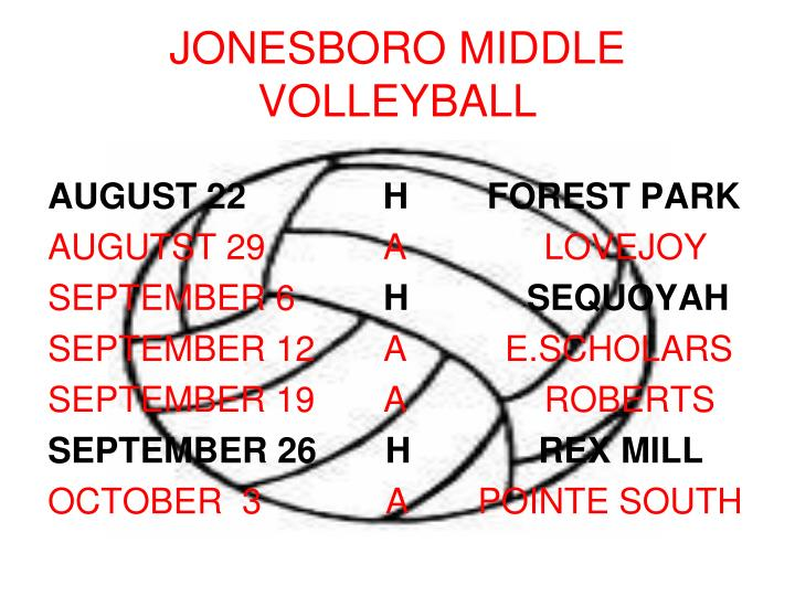 Jonesboro middle volleyball