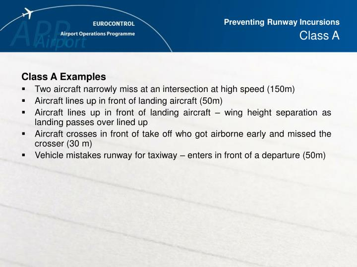Preventing Runway Incursions