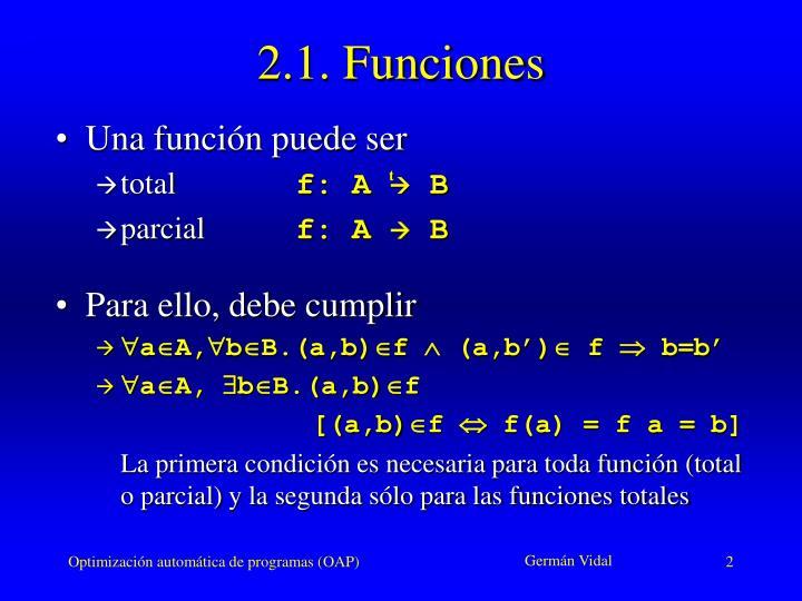 2.1. Funciones