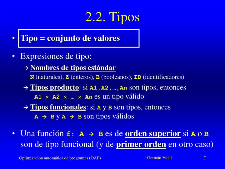 2.2. Tipos