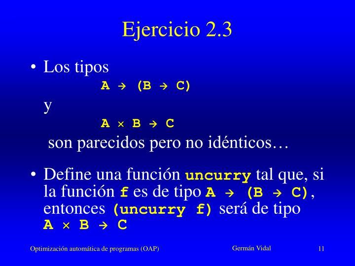 Ejercicio 2.3