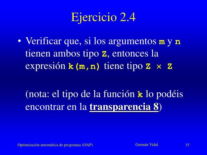 Ejercicio 2.4