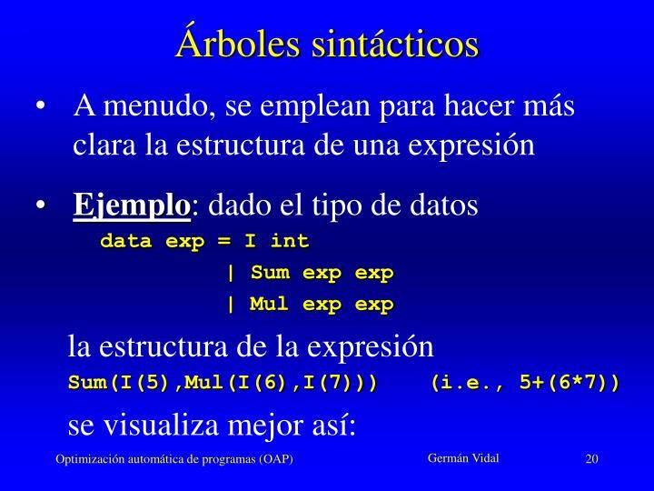 Árboles sintácticos