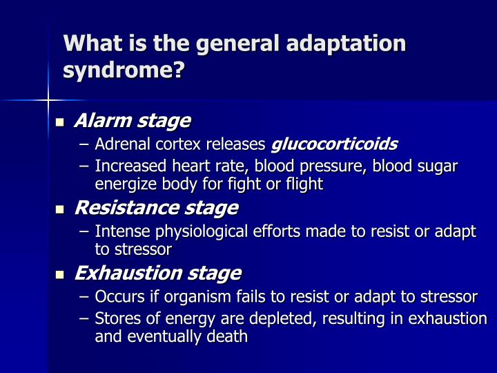 What is the general adaptation syndrome?