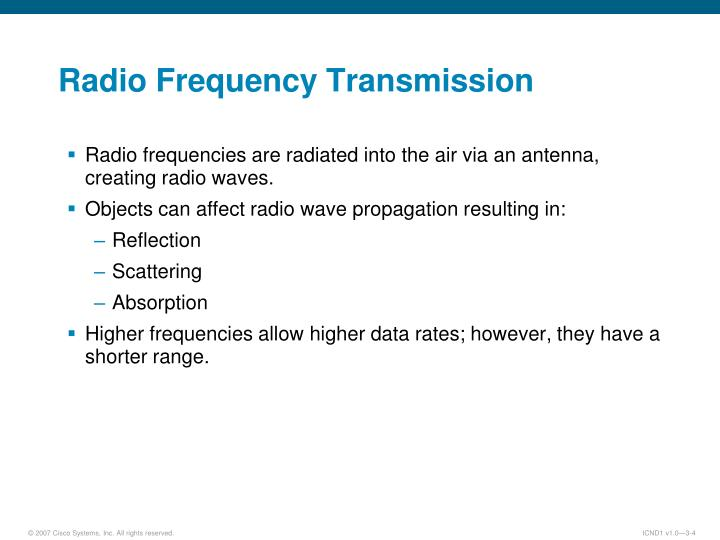 Radio Frequency Transmission