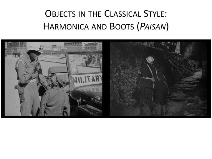 Objects in the Classical
