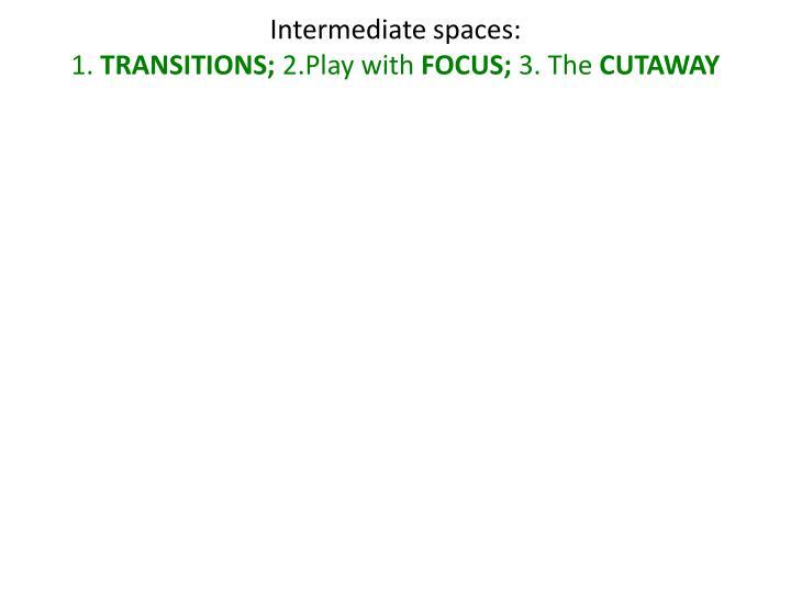 Intermediate spaces: