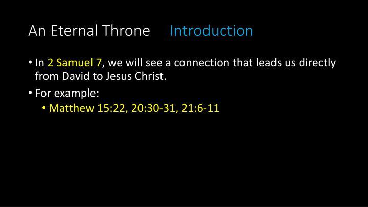 An Eternal Throne