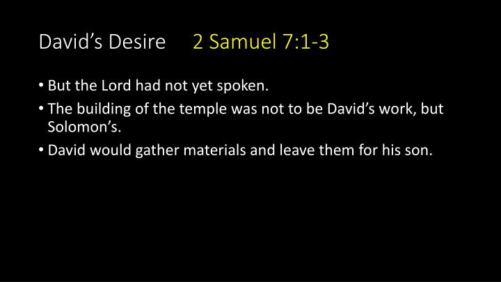 David's Desire