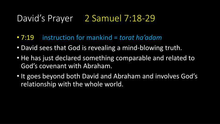 David's Prayer