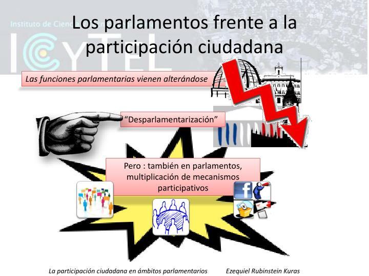Los parlamentos frente a la participación ciudadana