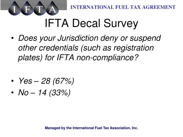 Does your Jurisdiction deny or suspend other credentials (such as registration plates) for IFTA non-compliance?