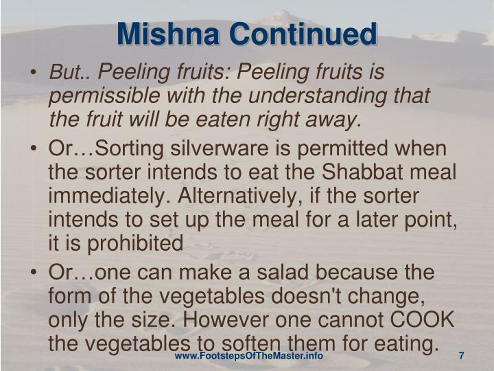 Mishna Continued