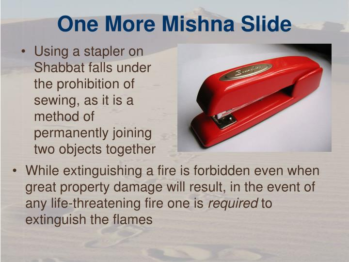 One More Mishna Slide