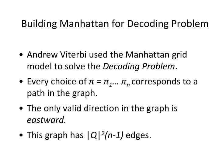 Building Manhattan for Decoding Problem