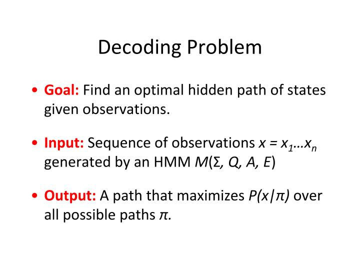 Decoding Problem