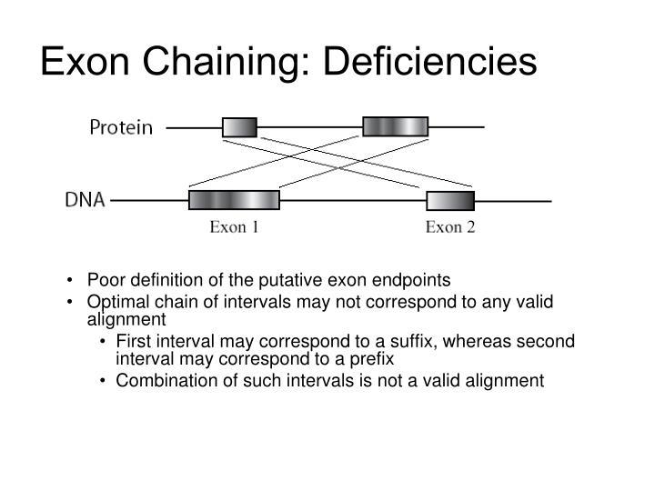 Exon Chaining: Deficiencies