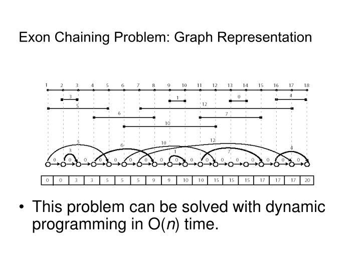 Exon Chaining Problem: Graph Representation