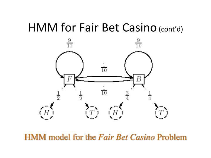 HMM for Fair Bet Casino