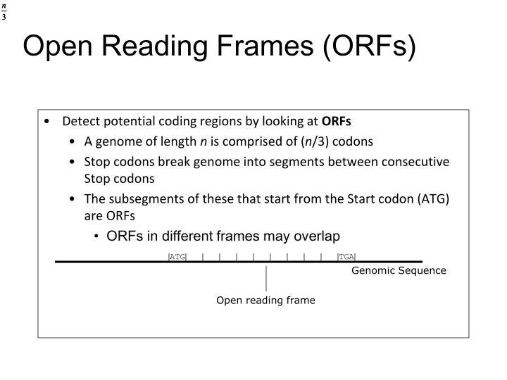 Open Reading Frames (ORFs)