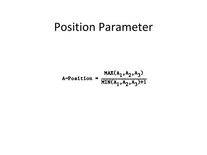 Position Parameter