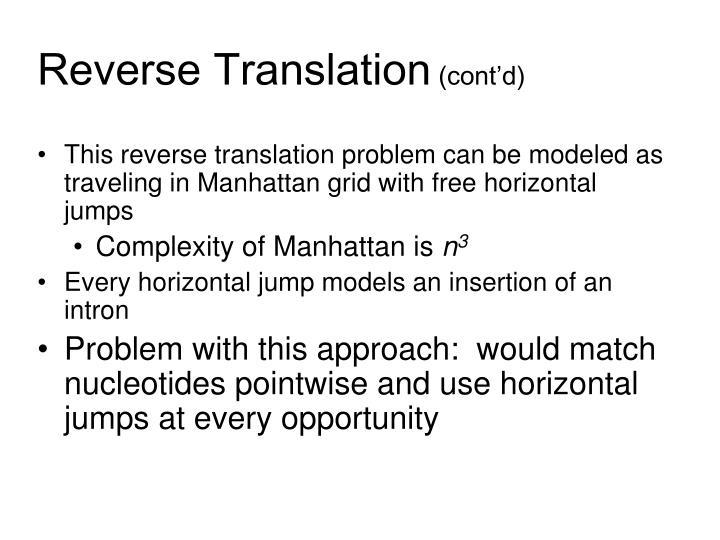 Reverse Translation