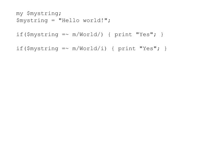 my $mystring;