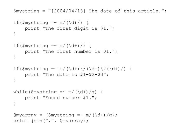 "$mystring = ""[2004/04/13] The date of this article."";"