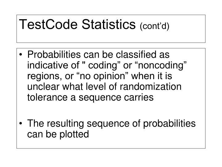 TestCode Statistics