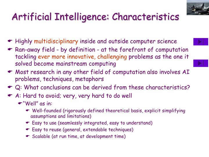Artificial Intelligence: Characteristics