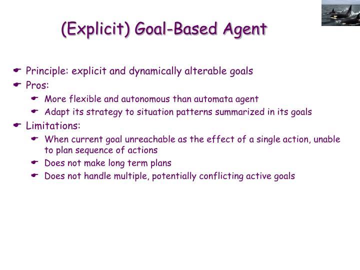 (Explicit) Goal-Based Agent