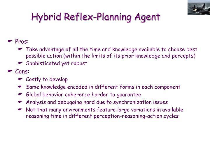 Hybrid Reflex-Planning Agent