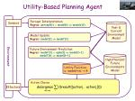 utility based planning agent