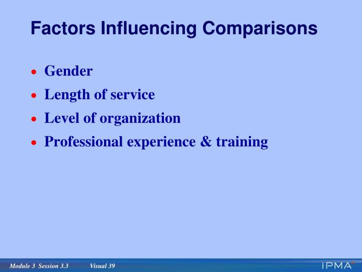 Factors Influencing Comparisons