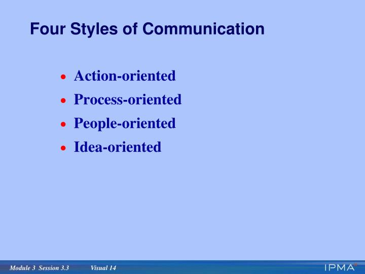 Four Styles of Communication