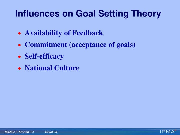 Influences on Goal Setting Theory