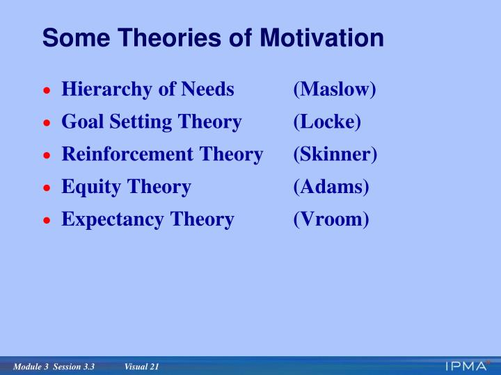 Some Theories of Motivation