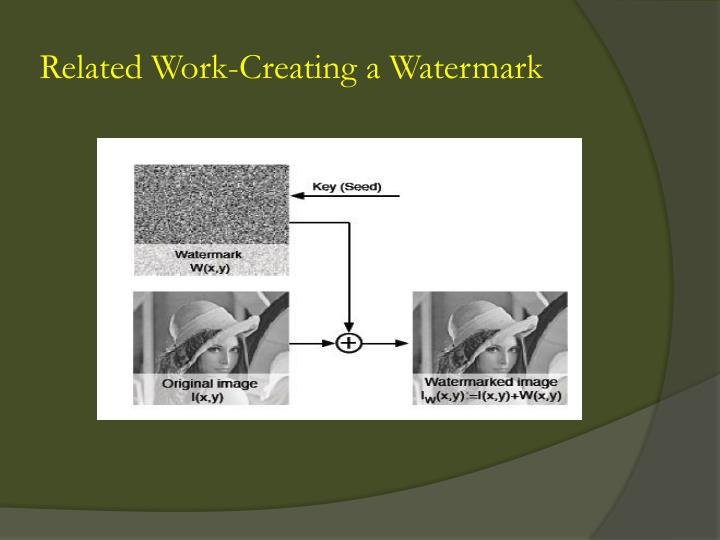 Related Work-Creating a Watermark