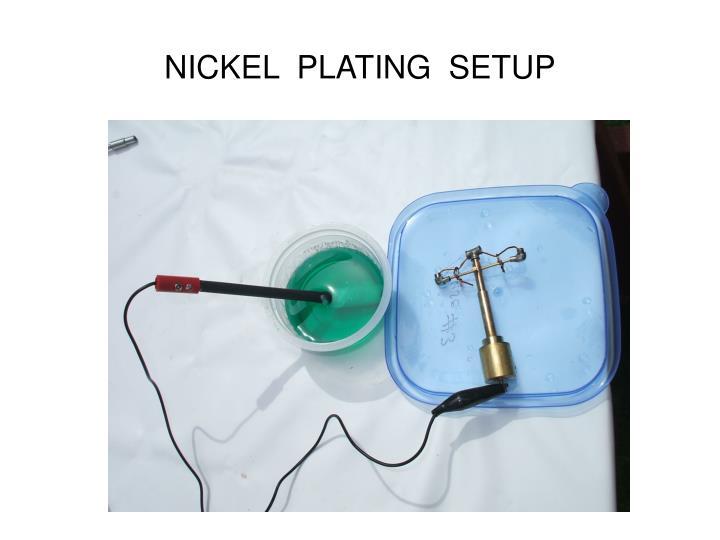 NICKEL  PLATING  SETUP