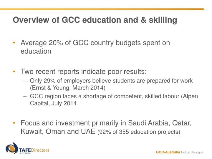 Overview of gcc education and skilling