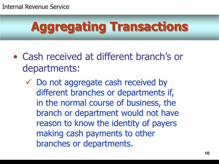 Aggregating Transactions