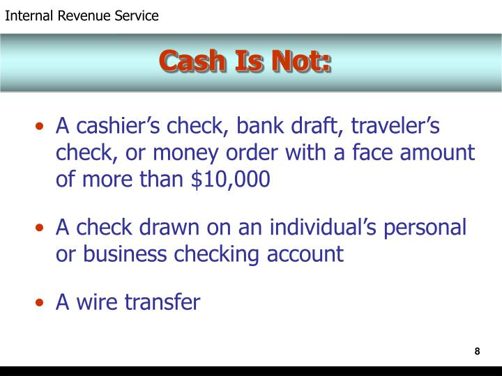 Cash Is Not: