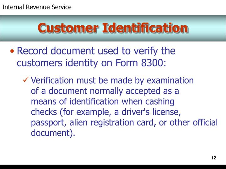 Customer Identification
