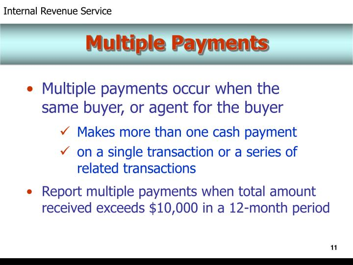 Multiple Payments