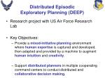 distributed episodic exploratory planning deep