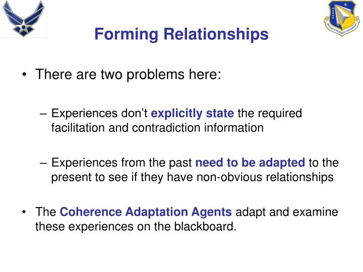 Forming Relationships