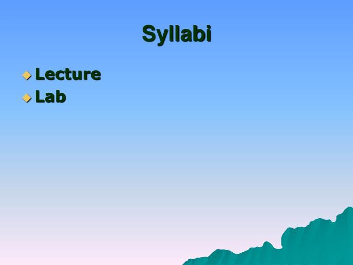 Syllabi